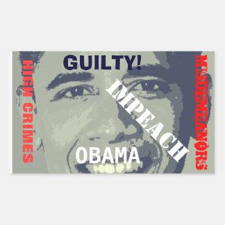 Impeach Obama high Crimes Sticker