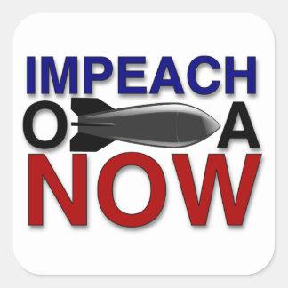 """Impeach """"oBOMBa"""" Obama Square Sticker"""
