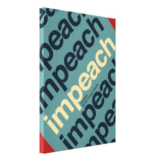 Impeach President Barack Obama Gallery Wrapped Canvas