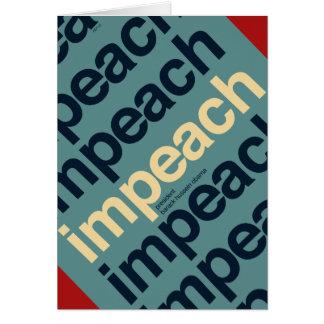 Impeach President Barack Obama Card