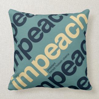 Impeach President Barack Obama Throw Pillows
