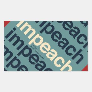 Impeach President Barack Obama Rectangular Sticker