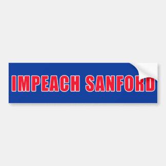 IMPEACH SANFORD Bumper Sticker