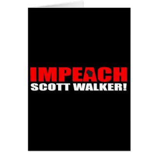 Impeach Scott Walker Greeting Card