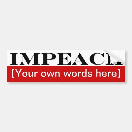 impeach-template-02 car bumper sticker