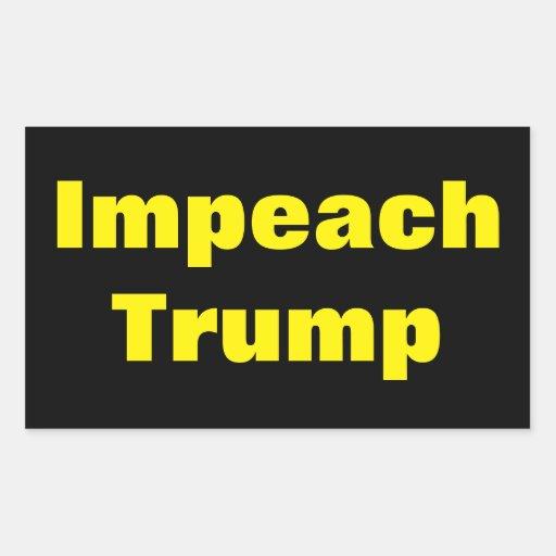 Impeach Trump Anti Donald Trump Predident Sticker | Zazzle