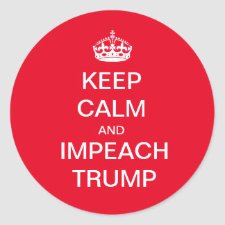 Impeach Trump Classic Round Sticker