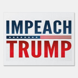 Impeach Trump Lawn Sign
