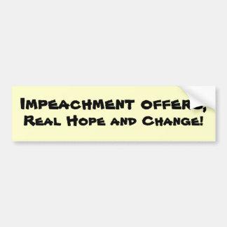 impeachment car bumper sticker