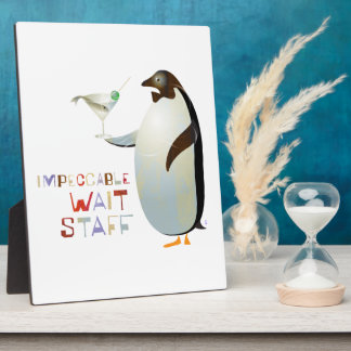 Impeccable Wait Staff – ZooDo Illustration Display Plaque