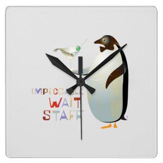 Impeccable Wait Staff – ZooDo Illustration Square Wall Clock