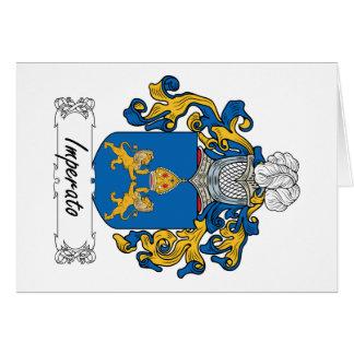 Imperato Family Crest Card