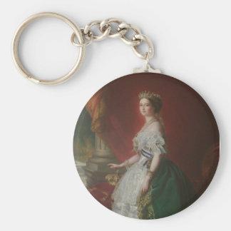 Imperatrice Eugenie De Basic Round Button Keychain