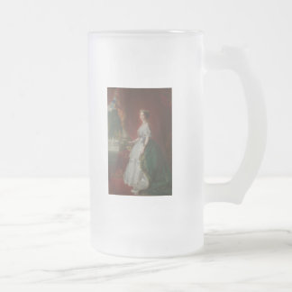 Imperatrice Eugenie De 16 Oz Frosted Glass Beer Mug