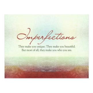 Imperfecciones. Le hacen único… Postales