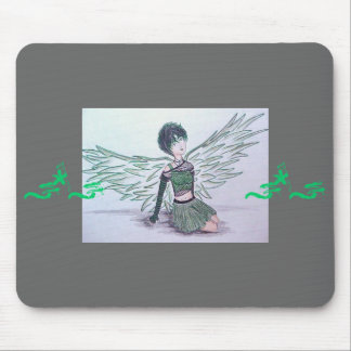"""""""Imperfect Angel"""" (green) Mousepad"""
