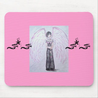 """""""Imperfect Angel"""" (pink) Mousepad"""