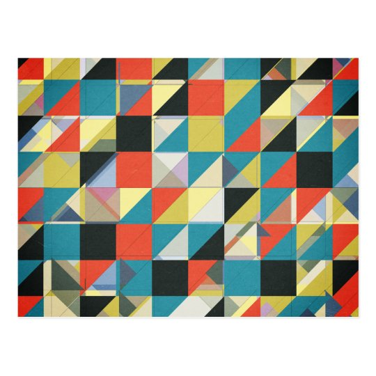 Imperfect Grid of Colors Postcard