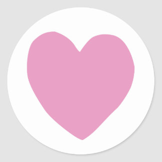 imperfect heart (pink) round stickers