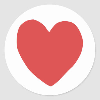 imperfect heart (red) stickers