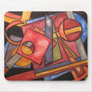 Imperfect Shapes - Abstract Art Handpainted Mouse Pad
