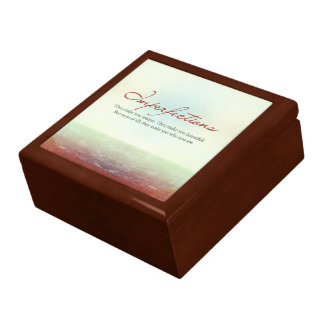 Imperfections. They make you unique… Keepsake Box