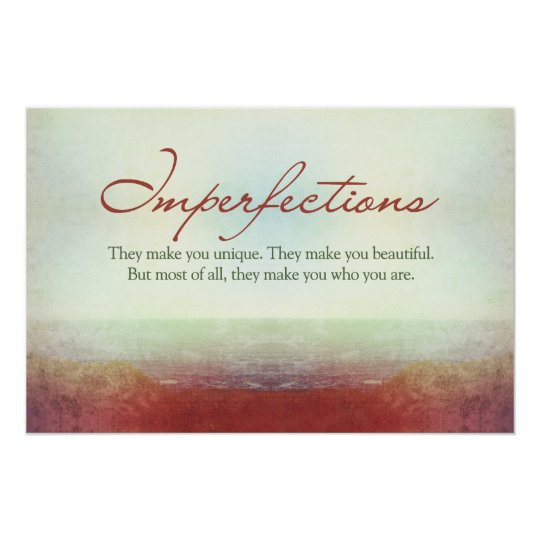 Imperfections. They make you unique… Poster