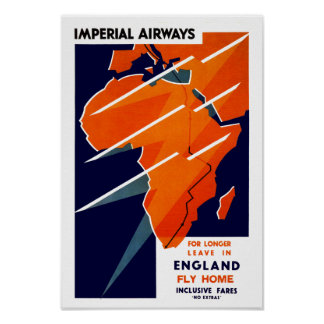Imperial Airways África Poster