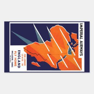 Imperial Airways Africa Rectangular Stickers
