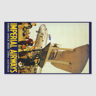 Imperial Airways Arrival Rectangular Stickers
