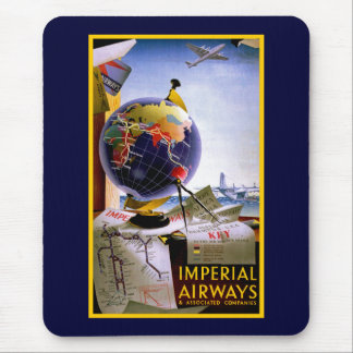 Imperial Airways Globe Mouse Pad