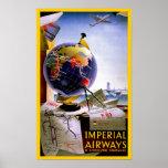 Imperial Airways Globe Poster
