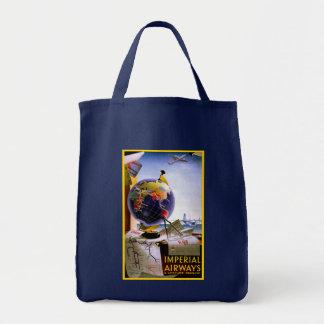 Imperial Airways Globe Tote Bag