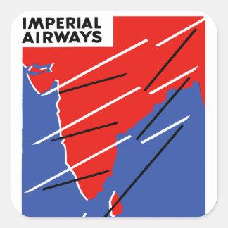 Imperial Airways ~ India Square Stickers