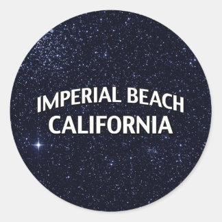 Imperial Beach California Classic Round Sticker