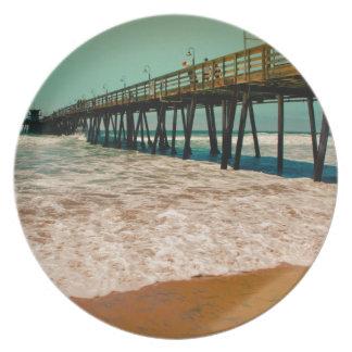 Imperial Beach Pier Dinner Plate