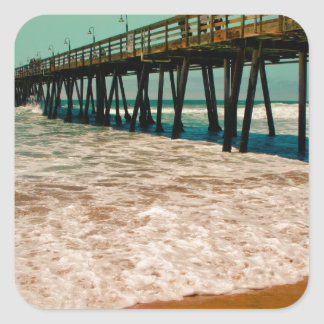 Imperial Beach Pier Square Sticker