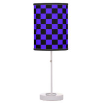 Imperial Blue and Black Checkered Shaded Lamp