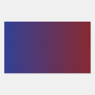 Imperial Blue to Maroon Vertical Gradient Rectangular Sticker