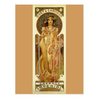Imperial Champagne - Art Nouveau Postcard