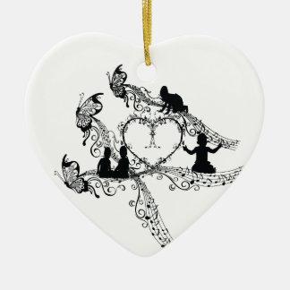 Imperial court music baby sitter 唄 ceramic ornament