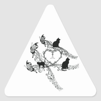 Imperial court music cat triangle sticker