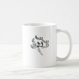 Imperial court music penguin coffee mug
