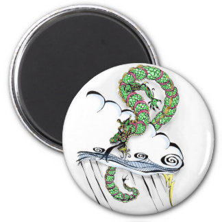 Imperial Dragon 2 Inch Round Magnet