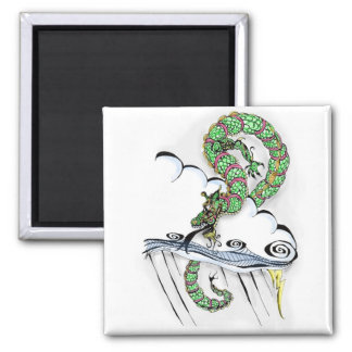 Imperial Dragon 2 Inch Square Magnet