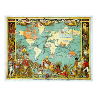 Imperial Federation Map of the World Showi Postcard