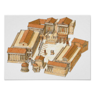 Imperial Forum. Rome. Aerial view Poster