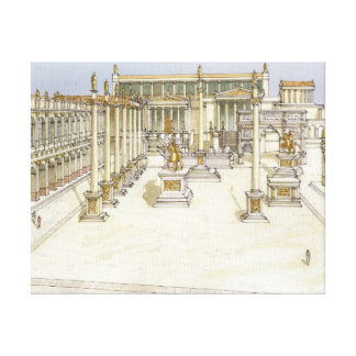 Imperial Forum. Rome Canvas Print