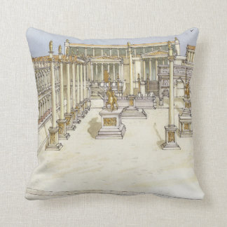 Imperial Forum. Rome Throw Pillow
