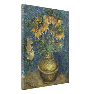 Imperial Fritillaries in Copper Vase by Van Gogh Canvas Print